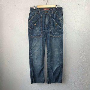 Orbac Jeans Distressed Boyfriend Jeans